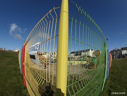 Coloured fence, Fisheye