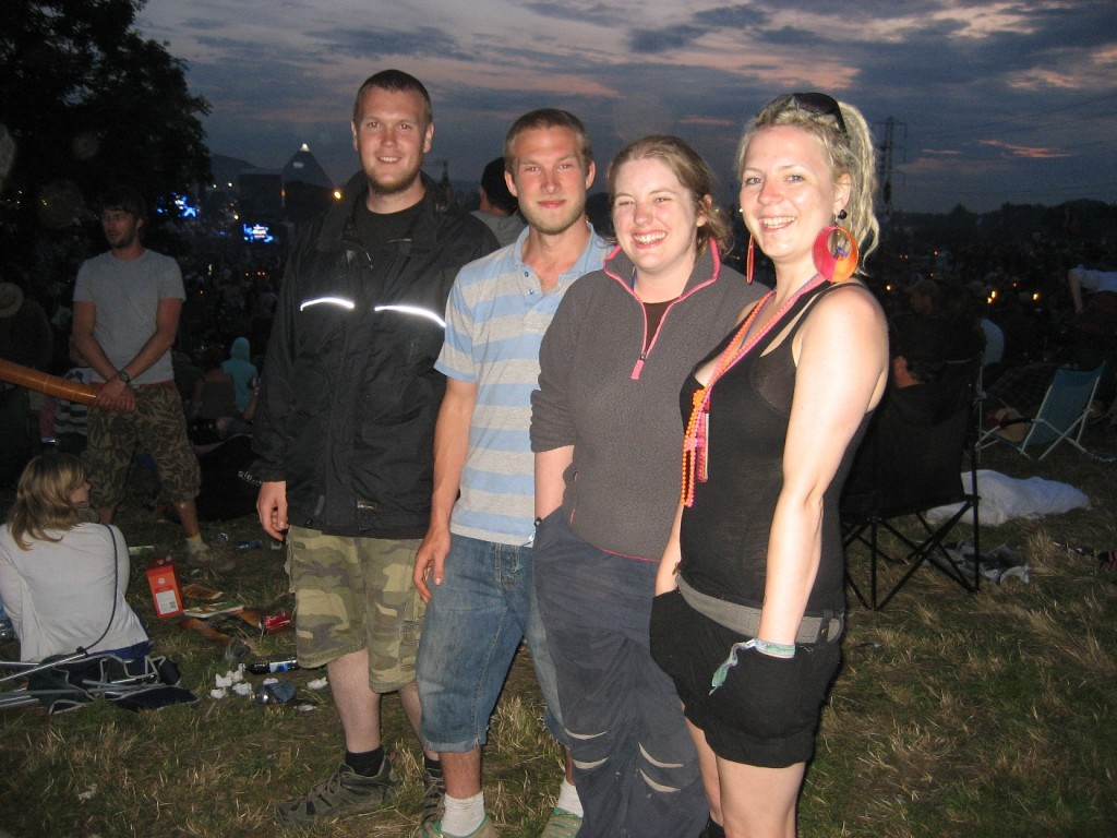Me, Andy, Carol & Sarah - Just before Blur on Sunday