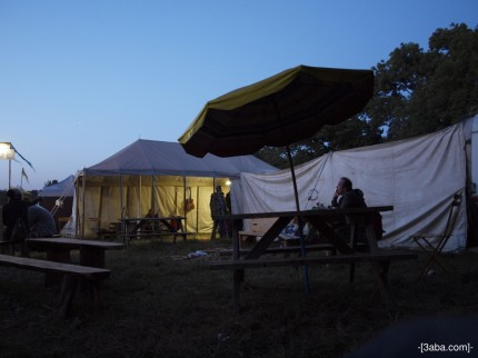 50p Tea Tent, Greenfields, Glastonbury 2010