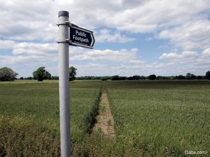 Public footpath - Landscape