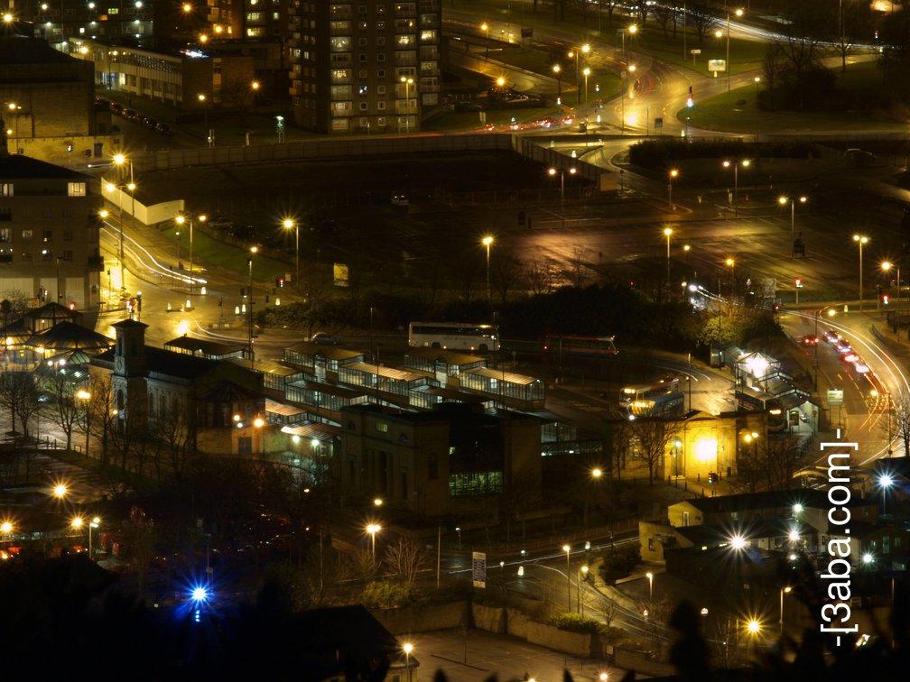 Halifax bus station at night