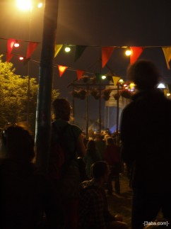 Carol watching Gorillaz, Glastonbury 2010