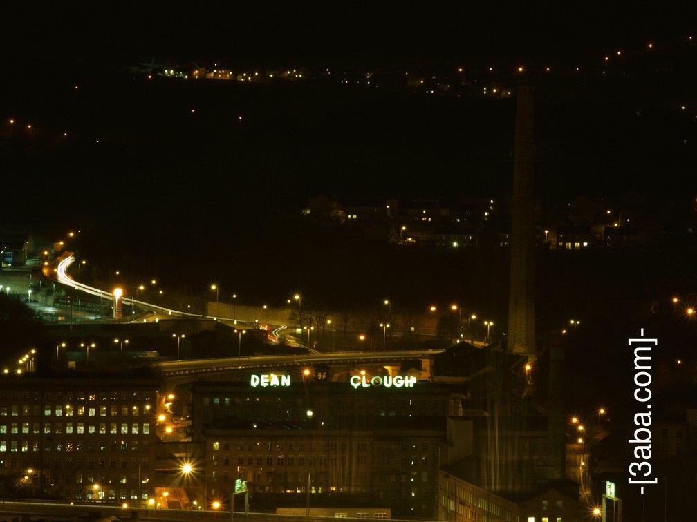 Dean Clough at night