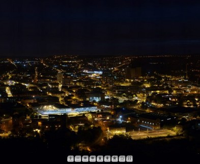 Halifax, West Yorkshire - Night time zoom panoramic